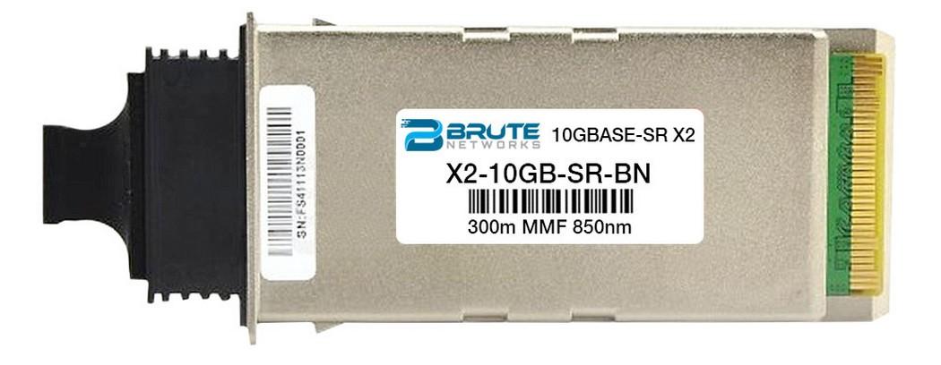 Transceiver Compatible with OEM PN# SFP-10G-SR-S 10GBASE-SR 300m MMF 850nm SFP Brute Networks SFP-10G-SR-S-BN